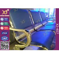 China Powder Coated Steel Tube Beam Waiting Area Chairs , Waiting Area Seating With Armrest on sale
