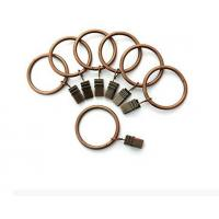 Portable Set of 14 1.5inch Copper Curtain Rings with Clips & Hooks for Bathroom Shower Rod Manufactures