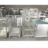 China Wire Security Metal Storage Cage Rubber Castors Material ISO9001 Certificate for sale