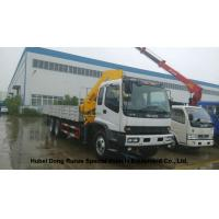 ISUZU 5 Ton -14 Ton Truck Mounted Crane With Telescopic Boom And Knukled Boom Manufactures
