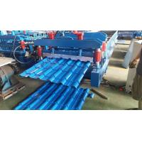 China Glazed Steel Roofing Machine , Roofing Corrugated Sheet Roll Forming Machine on sale