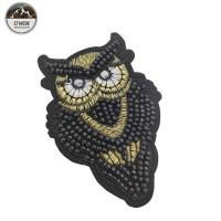 Sew On Beaded Applique Patches / 3D Embroidery Patches Customized Size Manufactures