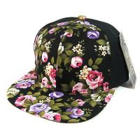 Spandex Cotton Floral Womens Snapback Hats 6 Panels Transfering Blank Patterns Manufactures