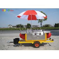Fiberglass Steel Mobile Food Trailer Long Life Span For Selling Hot Dog Manufactures