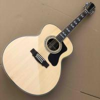 Top quality solid top custom guild jumbo 12 strings gloss finishing acoustic electric guitar 12 string guitar Manufactures