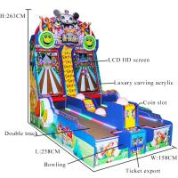 Kids Amusement Electronic Coin Operated Bowling Machine L258 * W158 * 263CM Manufactures