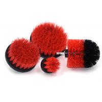 Red Drill Cleaning Brush Attachment Kit Plastic Material For Household Cleaning Manufactures