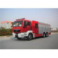 18 Ton Capacity Fire Equipment Truck 265KW With Steel Frame Pedal Plate Manufactures