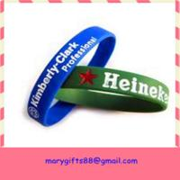 global selling latex free silicone rubber bracelet Manufactures