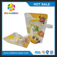 Buy cheap Recycled PET / NY / PE Stand Up Bags Gravure Printing For Liquid from wholesalers