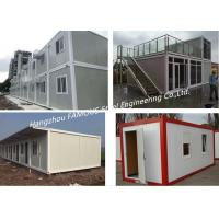 China G +1 Floor Foldable Living Prefab Homes Modular Integrated Container House For Labor Camp on sale