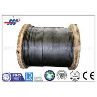 China Tower Crane Wire Rope Construction , Steel Cable Wire Rope 1570-1960MPA on sale
