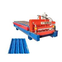 China Color Glazed Tile Roll Forming Machine / Coated Steel Step Tile Roll Forming Machine on sale
