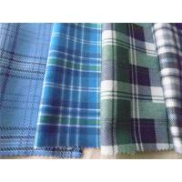 China 100% Cotton Plaid Shirting Fabric Yarn Dyed With Flame Retardant Function on sale