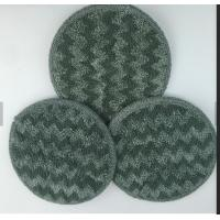 China Gray Twisted Round Microfiber Wet Mop Pads 10mm Sponge 260gsm Self - Adhensive Wet Mop Pads on sale