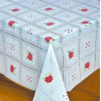 Vivid Printed PVC Tablecloth with Flannel Backing Manufactures