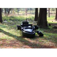 Black radio controlled bait boat ABS engineering plastic hull boat OEM / ODM Manufactures