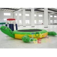 Inflatable Tortoise Water Trampoline For Water Entertainment Manufactures