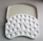 Dental Ceramic  Mixing Slab (  Plate),28 Slots , having plastic Cover& Bottom Manufactures