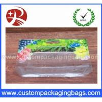 Buy cheap Grape Plastic Laminated Slider Ziplock Fresh recycled bottom gusset bags from wholesalers