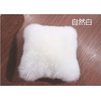Lambswool Car Seat Headrest Neck Cushion Pillow , Fluffy Hairs Car Neck Support Pillow  Manufactures