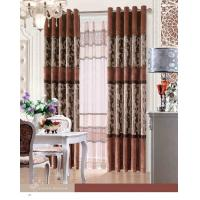 China Elegant Blackout Fabric Luxury Ready Made Curtains / Jacquard Window Curtain With Polyester on sale