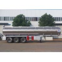 Stainless Steel Vegetable Oil Delivery Truck , 42,000 Liters Oil Tank Trailer Manufactures