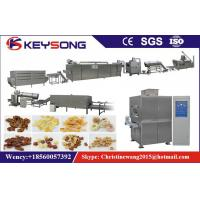 China Two Screw Food Processing Machinery , Breakfast Cereal Food Extruding Machine on sale