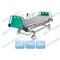 3 Function ICU Rolling Electric Hospital Bed With Detachable Aluminium Guardrails Manufactures