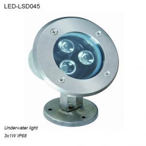 Stainless steel 3W IP68 waterproof LED Underwater light in pool used Manufactures