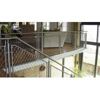 Ferrule Flexible Cable Mesh Stainless Steel Rope 3D Structure For Spiral Staircase Manufactures
