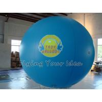 Blue Inflatable Advertising Balloon Filled Helium Gas with 0.18mm PVC for Outdoor Advertising Manufactures