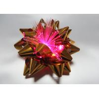 Fiber - optic Metallic PET LED bows for Celebrative Wedding / Party / Holiday Manufactures