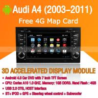 Audi A4 2003-2011 Android Auto Radio DVD Player with GPS Navigation Wifi 3G Digital TV RDS CAN Bus Manufactures
