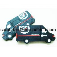 China Customized Car Shaped PVC USB Flash Disk, 100% Original and New Memory Chip on sale