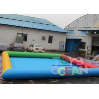 6 X 8m Inflatable Water Game Square Inflatable Swimming Pool For Amusement Park Manufactures