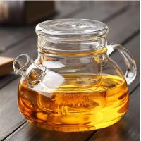 China 900ml Heat Resistant Borosilicate Glass Teapot with glass Infuser for Loose Tea, Bagged and Flowering Teas on sale
