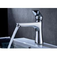 ROVATE Saving Water Bathroom Basin Faucets Chrome Finished OEM / ODM Acceptable Manufactures