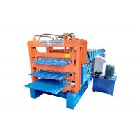 Aluminum Tile Corrugated Roll Forming Machine , Three Layer IBR Sheet Making Machine Manufactures