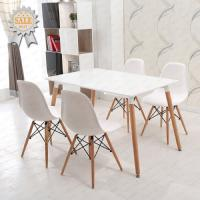 China Modern Art Design Dining room Furniture Simple Metal Dining Table Set Chair and Table Wooden Dining Set on sale