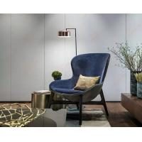Discover Hotel Comfortable Wooden Lounge Chair For Living Room Blue Color Manufactures