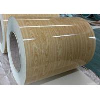 Wooden Pre Painted Galvanized Sheet , Hot Rolled Steel Coil For Construction Manufactures