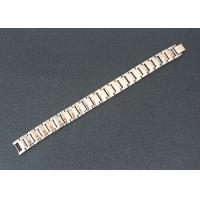 Health Care Magnetic Stainless Steel Bracelets Custom Rose Gold Plated Manufactures