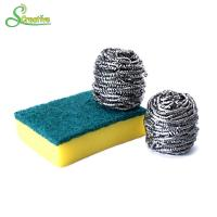 10g To 60g Spiral Stainless Steel Pan Scrubbers Ball For Cleaning Stain No Hurt Manufactures
