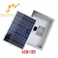 Poly Crystalline 45W 18V Solar Panel Manufactures