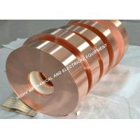 China 0.1mm Thickness Red Copper Foil Tape Rolled Shape For Stained Glass on sale