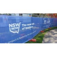 Ad Wind Resistant Outdoor Mesh Banners Fence Wrap For Construction Barricades Scaffolding Manufactures