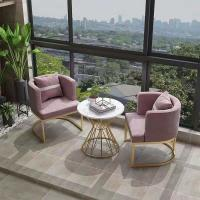 Metal And Fabric Dining Chairs , Metal Frame Upholstered Dining Chair