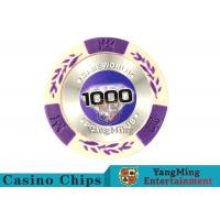 Quality 14 Gram Matte Sticker Custom Clay Poker Chips With 25pcs In A Shrink Roll for sale