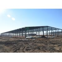 Thermal Insulation Structural Steel Warehouse , Fireproof Metal Workshop Building Manufactures